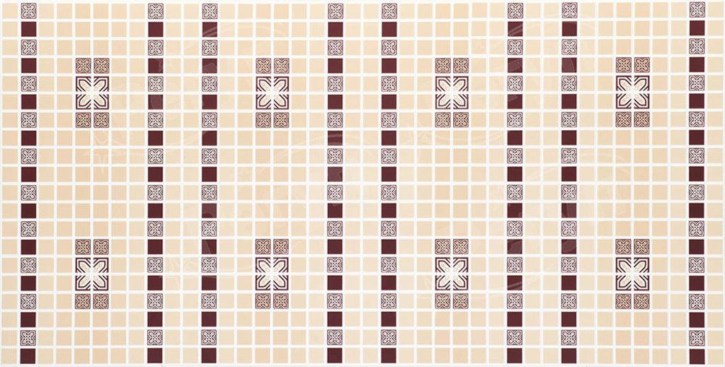 Панели ПВХ: Мозаика Орнамент бордовый в Мир Потолков
