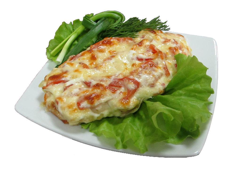Понедельник: Куриная грудка запеченная под овощами + гарнир (280 г) в Смак-нк.рф