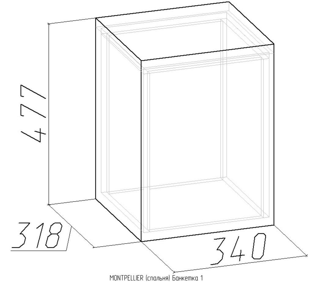 MONTPELLIER (спальня): Банкетка Montpellier 1 в Стильная мебель