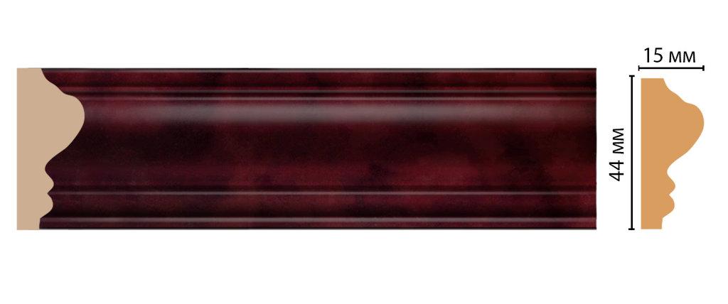 Молдинги: Цветной молдинг DECOMASTER D030-62 (43*16*2400) в Мир Потолков