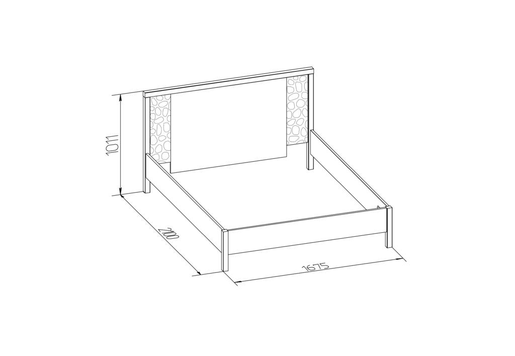 Кровати: Кровать WYSPAA 22 (1600, орт. осн. дерево) в Стильная мебель