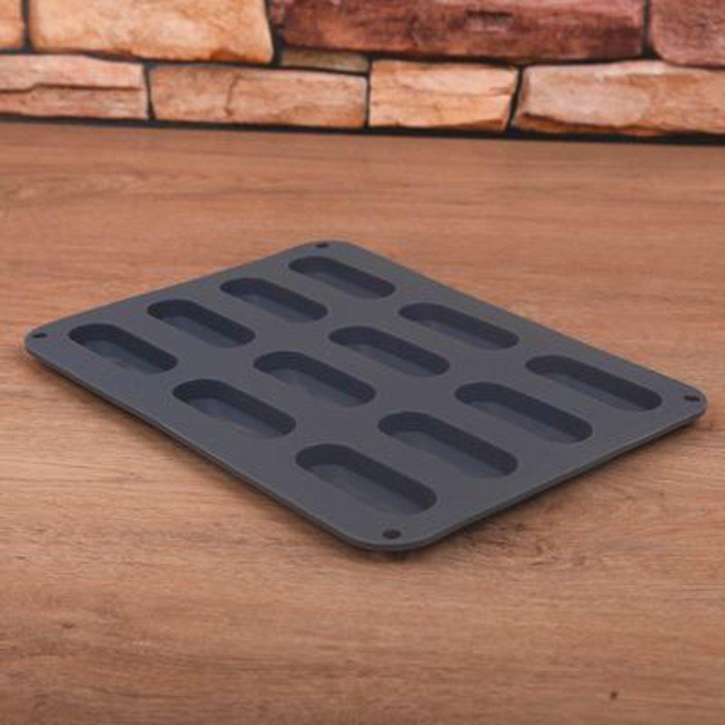 Силиконовые формы для выпечки: Форма для выпечки мини эклер 28х21х1 см в ТортExpress