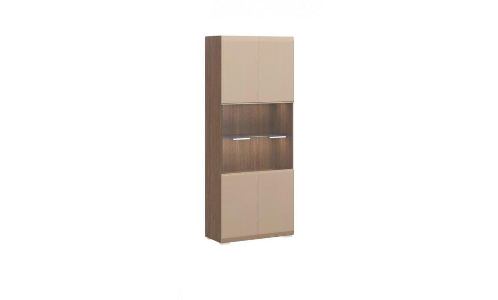 Модульная гостиная Сити: Шкаф с витриной 2-дверный Сити в Уютный дом