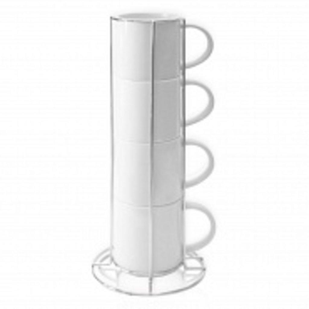 Белые кружки-заготовки: Кофейные кружки (4 шт.) в NeoPlastic