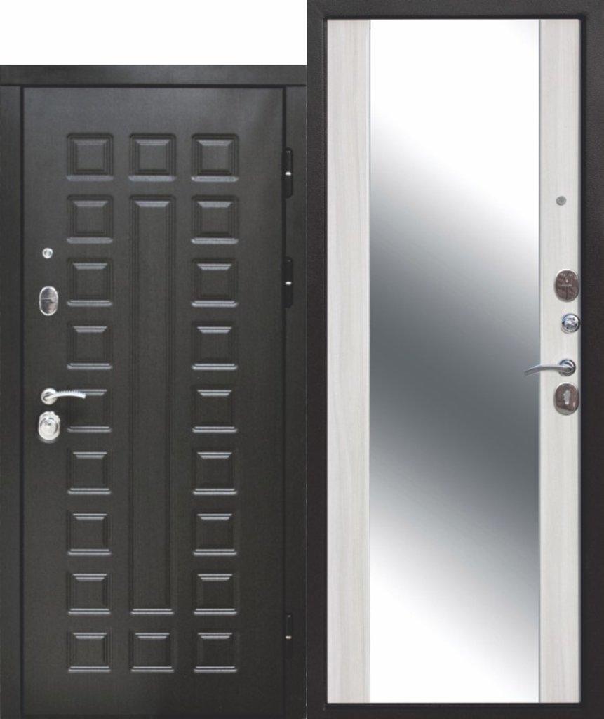 Двери завода Феррони: 12 см СЕНАТОР ЗЕРКАЛО МДФ/МДФВенге/Дуб Сонома в Модуль Плюс