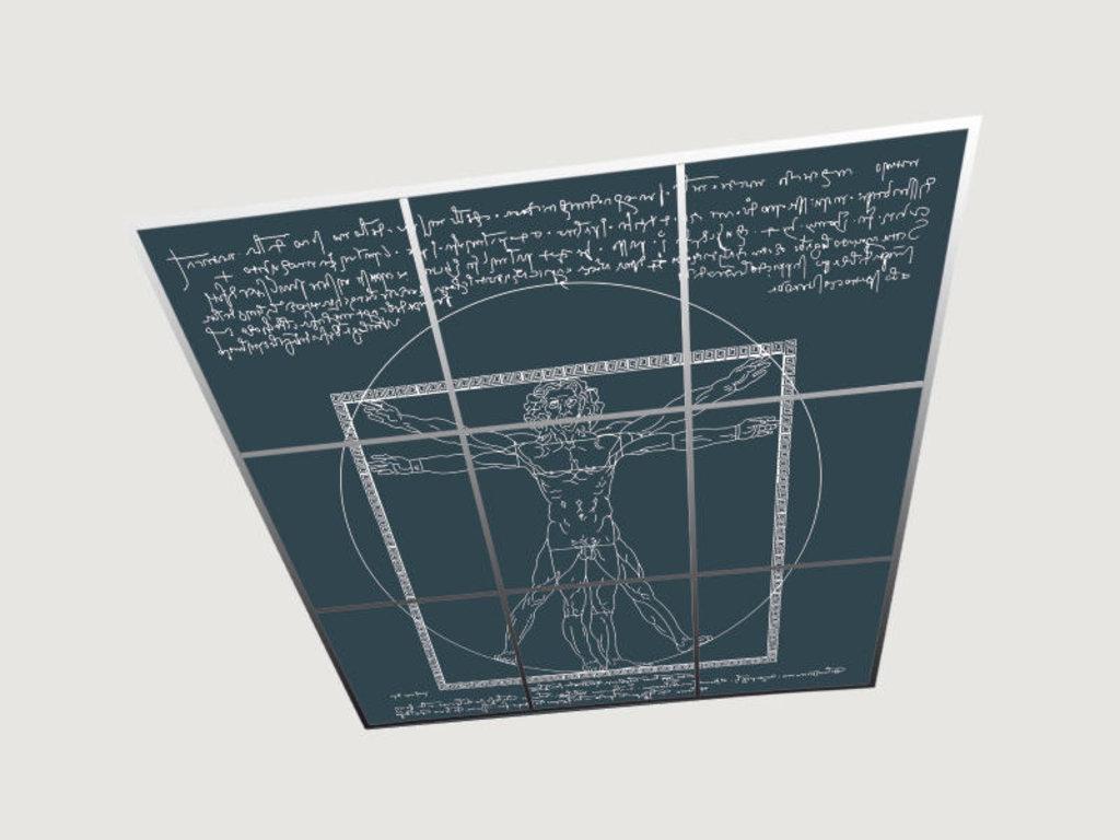 Зеркальные потолоки: Композиция «Человек Леонардо» в Мир Потолков