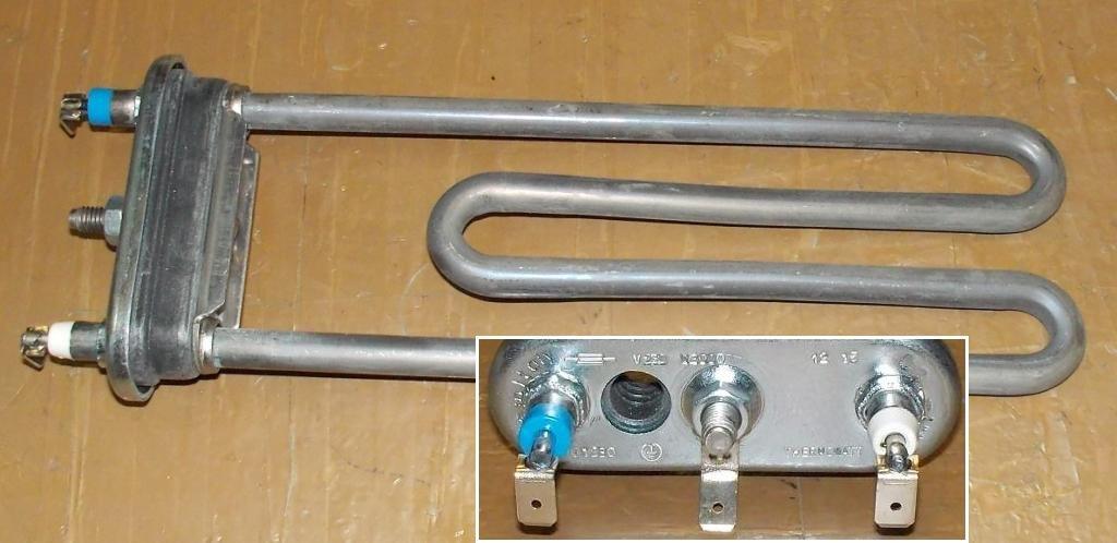 ТЭН для стиральных машин: ТЭН 2000W 200мм с отверстием под термодатчик, 1 термопредохранитель, для стиральных машин HTR012BO в АНС ПРОЕКТ, ООО, Сервисный центр