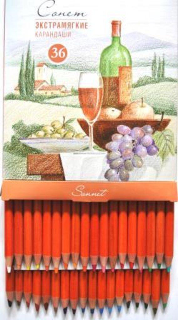 """Профессиональные цветные карандаши: Экстрамягкие карандаши """"Сонет"""" 36 цветов в Шедевр, художественный салон"""