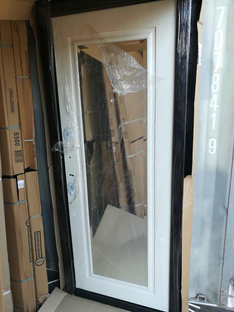 Двери завода Феррони: 7,5 см GARDA Гарда Серебро Зеркало Фацет Белый ясень в Модуль Плюс