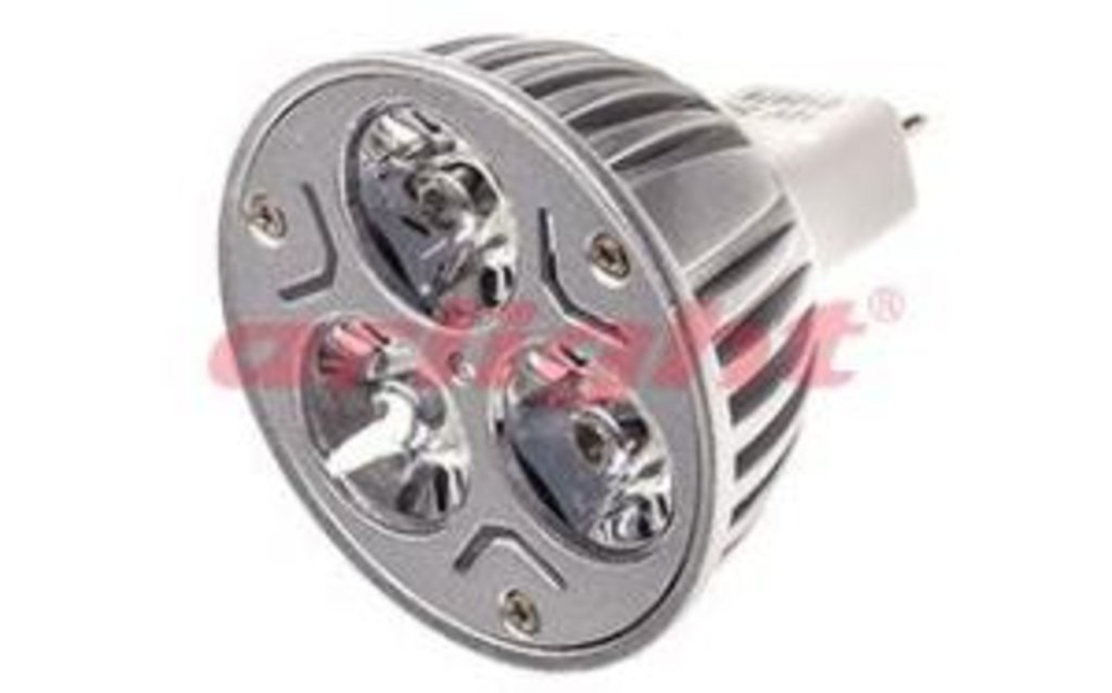 Цоколь GU5.3 (MR16): SD003 MR16 3x1W White в СВЕТОВОД