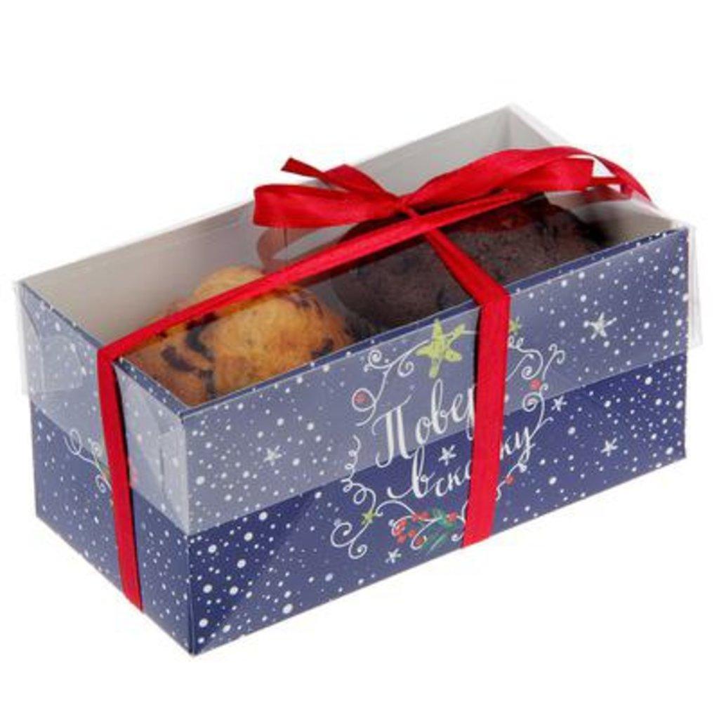 """Упаковка: Коробка для 2 капкейков """"Поверь в сказку"""" в ТортExpress"""