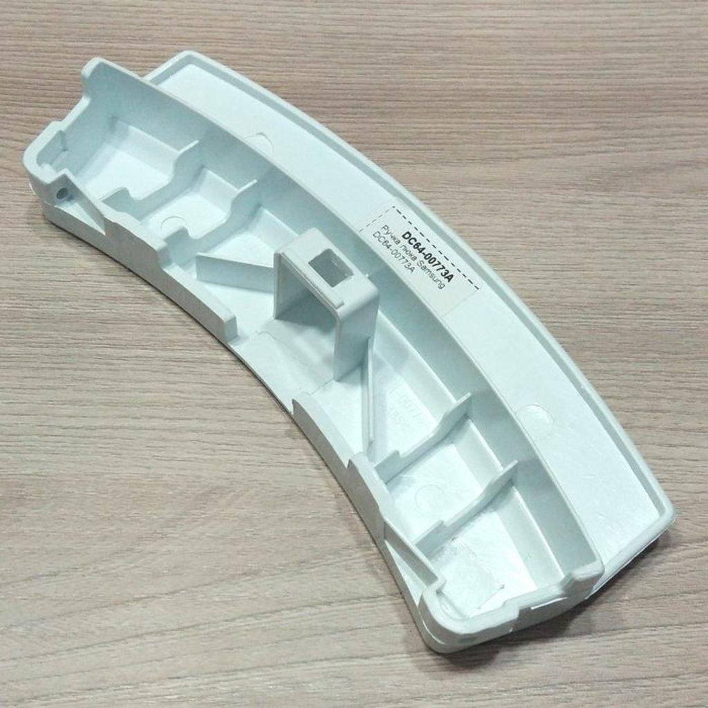 Ручки, крючки, петли, стекла и рамки люка для стиральной машины: Ручка люка для стиральной машины Samsung (Самсунг) белая, DC64-00773A в АНС ПРОЕКТ, ООО, Сервисный центр