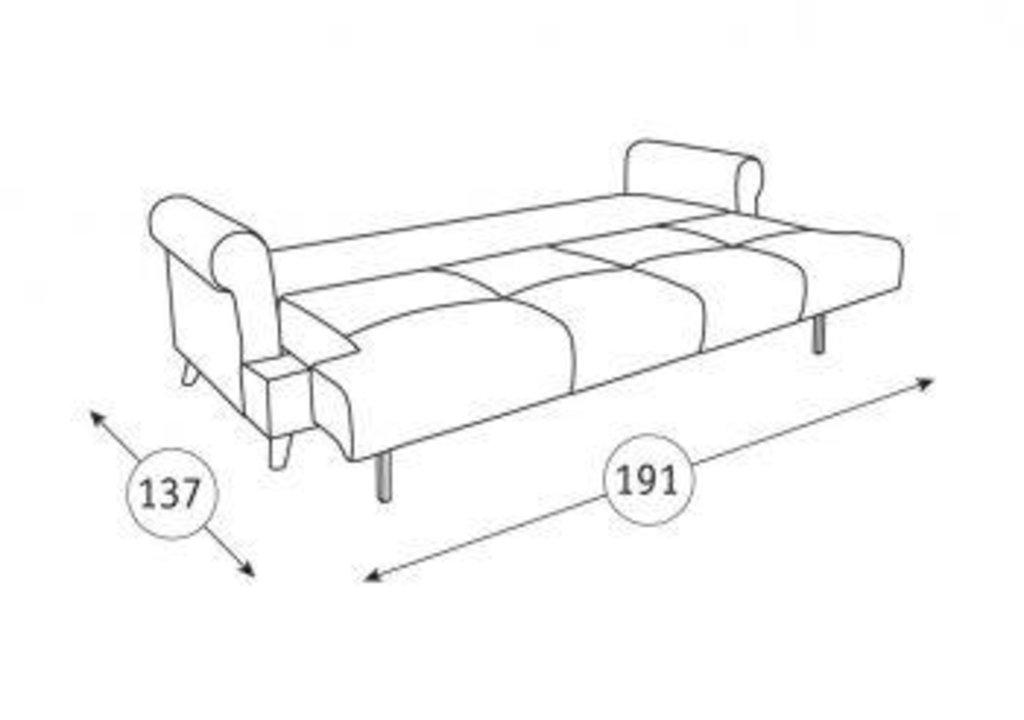 Диваны Мирта: Диван-кровать Мирта ТД 306 в Диван Плюс