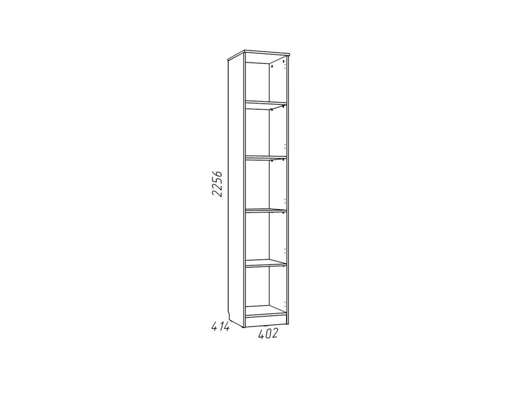Детские шкафы и стеллажи: Шкаф для белья НМ 013.01-02 М Рико-М в Стильная мебель