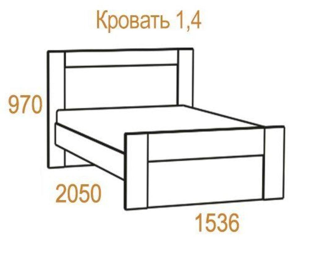 Кровати: Кровать Комфорт-2 (1400, мех. подъема) в Стильная мебель