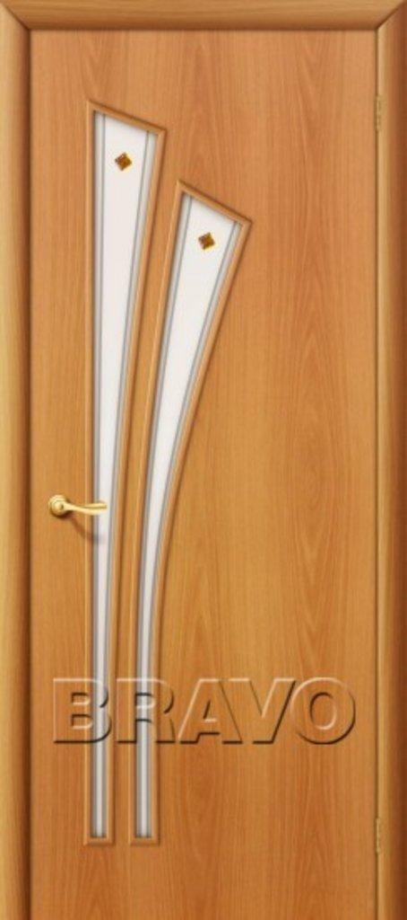 Двери ламинированные BRAVO: 4С Л-12 (МиланОрех) в STEKLOMASTER