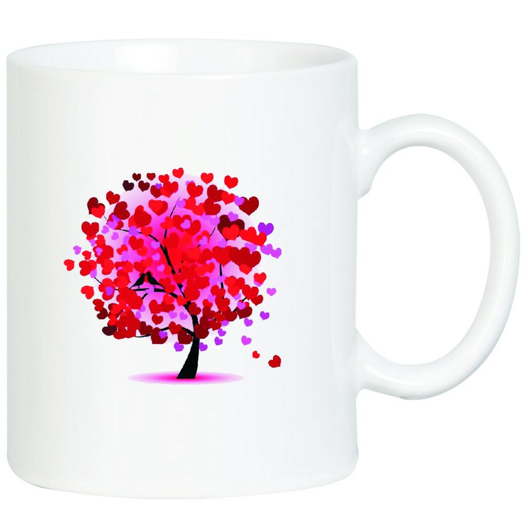"""Выбери готовый дизайн для любой кружки-заготовки: Кружка """"Дерево из сердец"""" в NeoPlastic"""