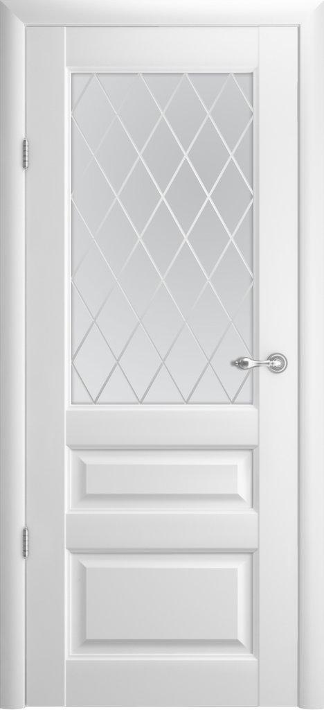"Двери Альберо: Эрмитаж 2 белый мателюкс ""Ромб"" в Салон дверей Доминго Ноябрьск"