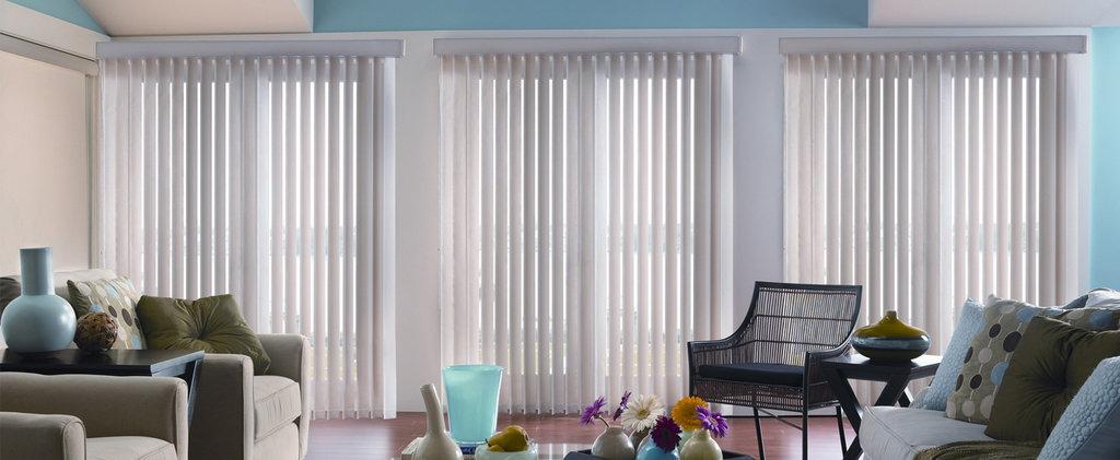 Вертикальные жалюзи: Пластиковые вертикальные жалюзи в Салон штор, Виссон