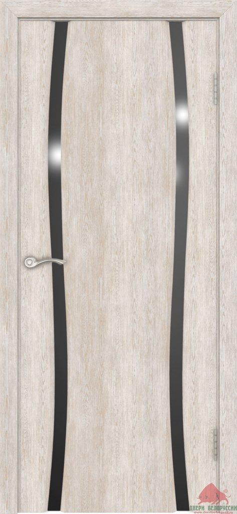 Двери Белоруссии экошпон: Плаза-2 (Нанофлекс белый ясень) в STEKLOMASTER