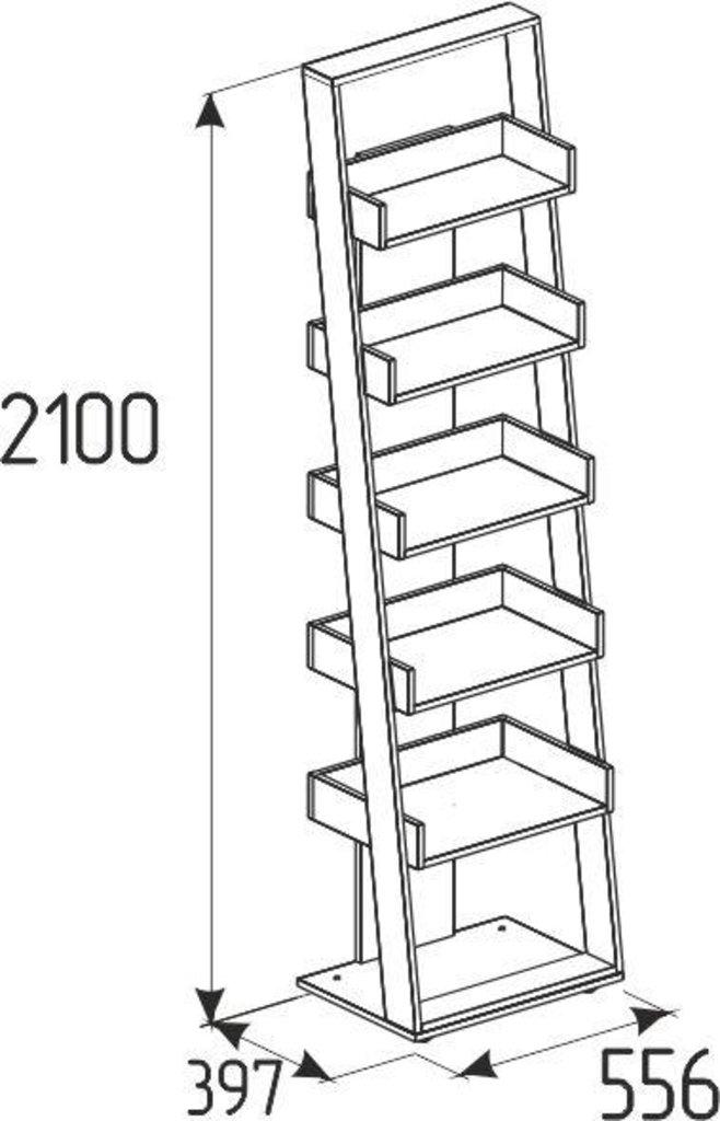 Детские шкафы и стеллажи: Стеллаж Nature 95 в Стильная мебель
