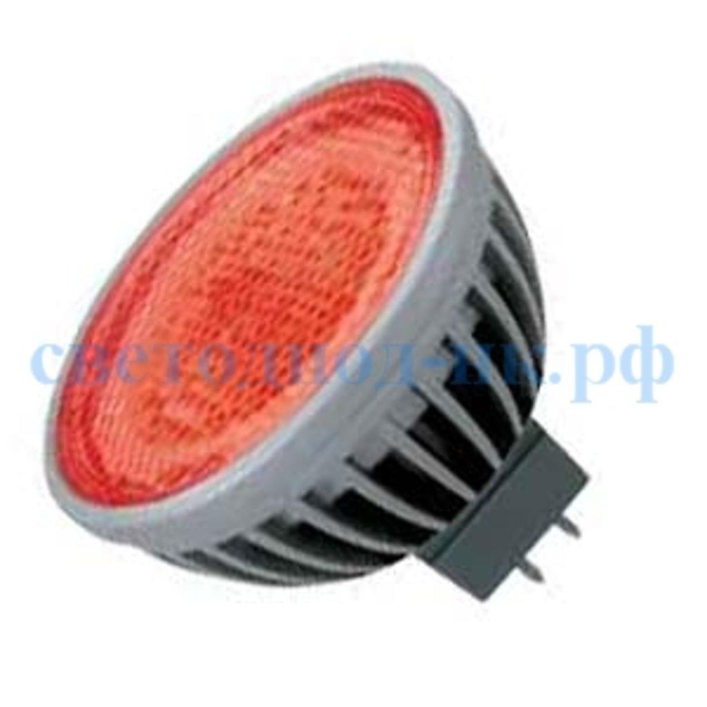 Цветные лампы: Ecola MR16 LED color 4,2W 220V GU5.3 Red Красный прозрачное стекло 47x50 в СВЕТОВОД