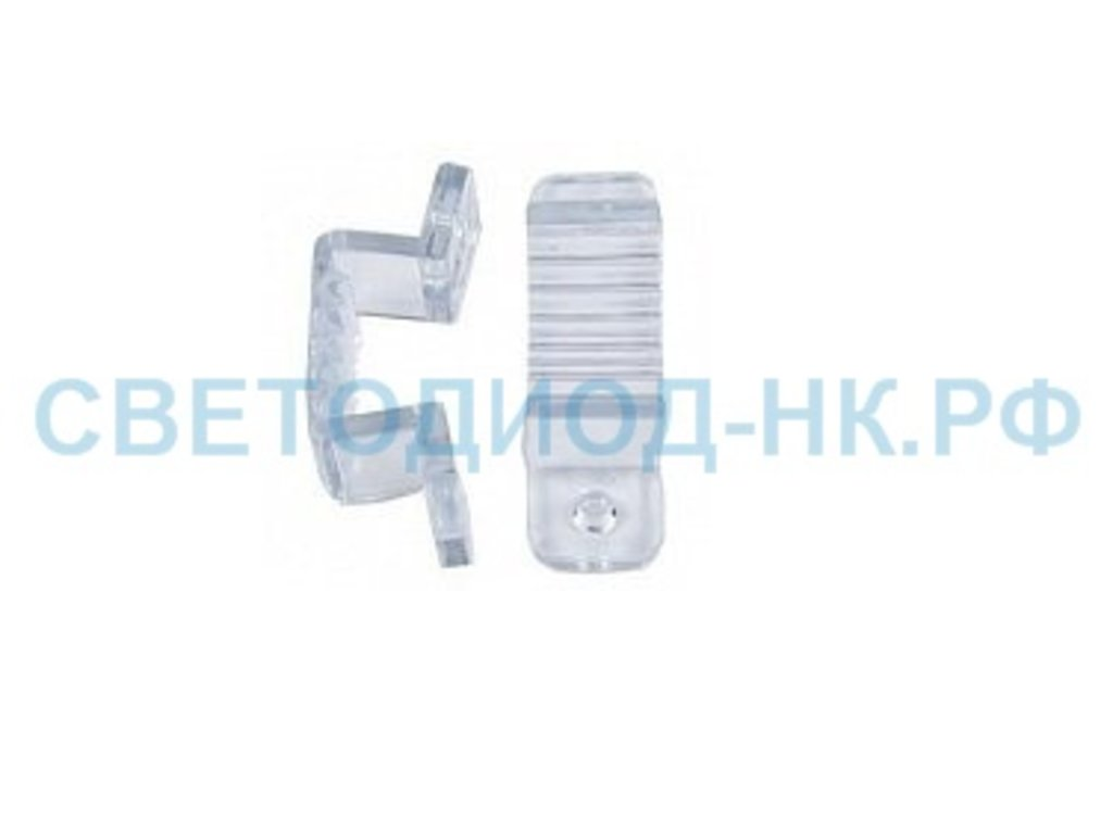 Комплектующие к ленте: Ecola Скоба крепежная 220V 12x7 IP68 (10 шт в уп, цена за уп) SCHL12ESB в СВЕТОВОД