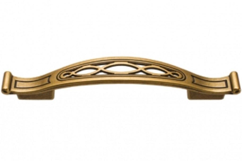 Коллекция КЛАССИКА: Ручка-скоба 128-096мм, отделка бронза античная французская в МебельСтрой