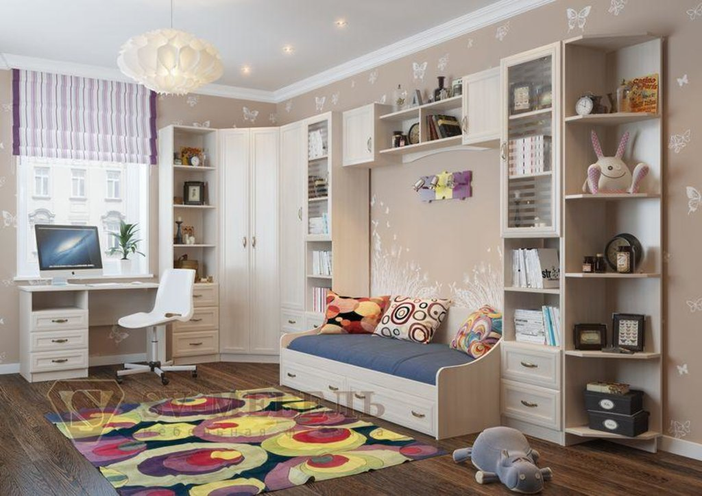 Мебель для детской Вега: Кровать (без матраца 0,9*2,0) Вега ДМ-09 в Диван Плюс