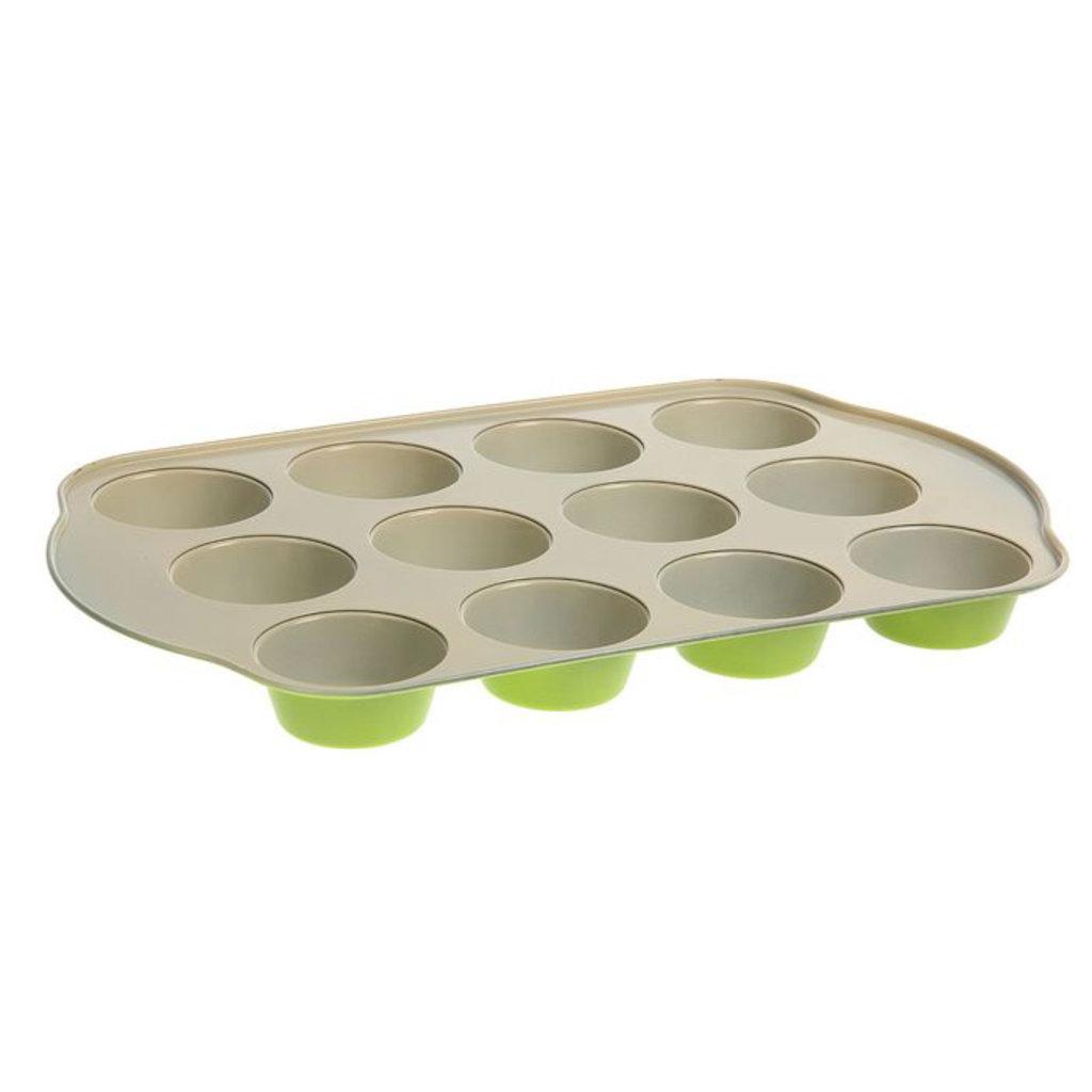 """Формы для выпечки кексов: Форма для выпечки с керамическим покрытием 41х26,5х3,5 см """"Флёри. Круг"""" 12 ячеек в ТортExpress"""