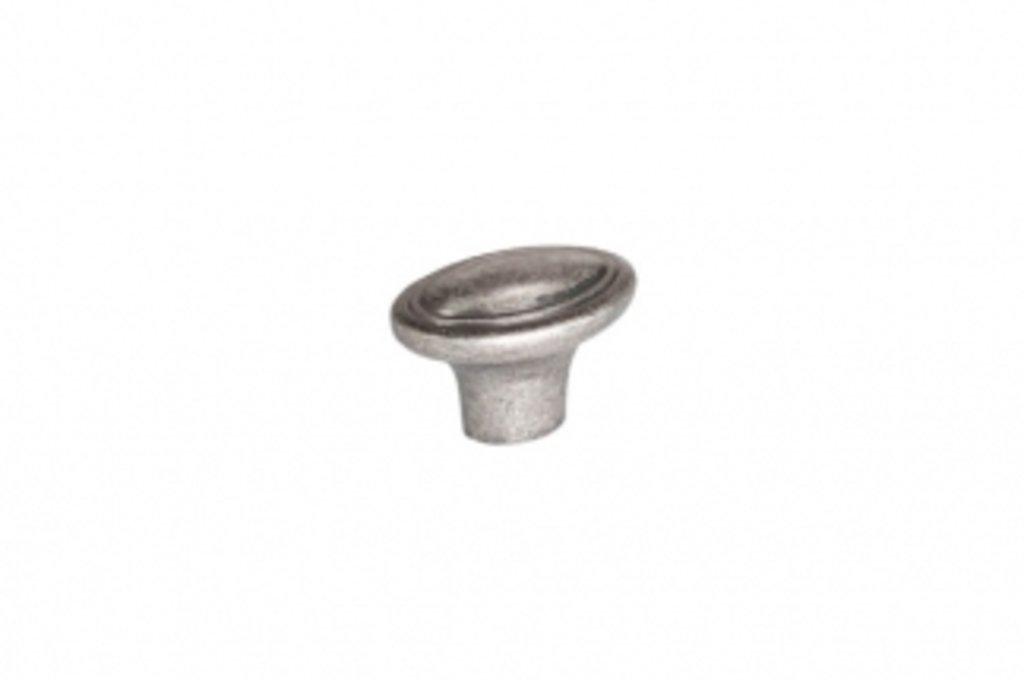 """Мебельная фурнитура """"НОВИНКИ"""": Ручка-кнопка, отделка серебро старое в МебельСтрой"""