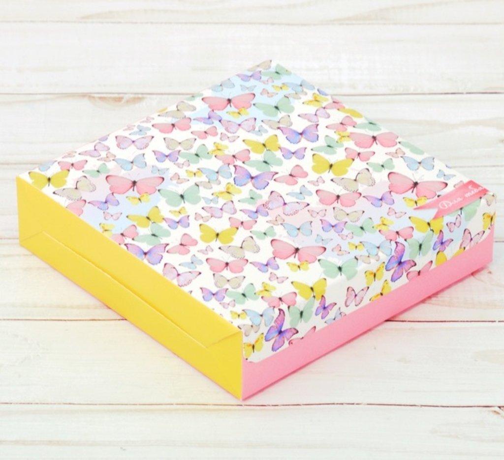 Коробки для кондитерских изделий: Коробка складная «Для тебя», 14 × 14 × 3.5 см в ТортExpress