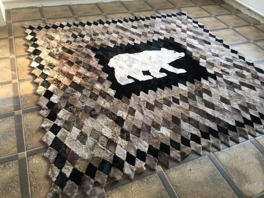 """Шкуры натуральные, ковры, пледы, накидки: Плед из овчины """"Медведь светлый"""" в Сельский магазин"""