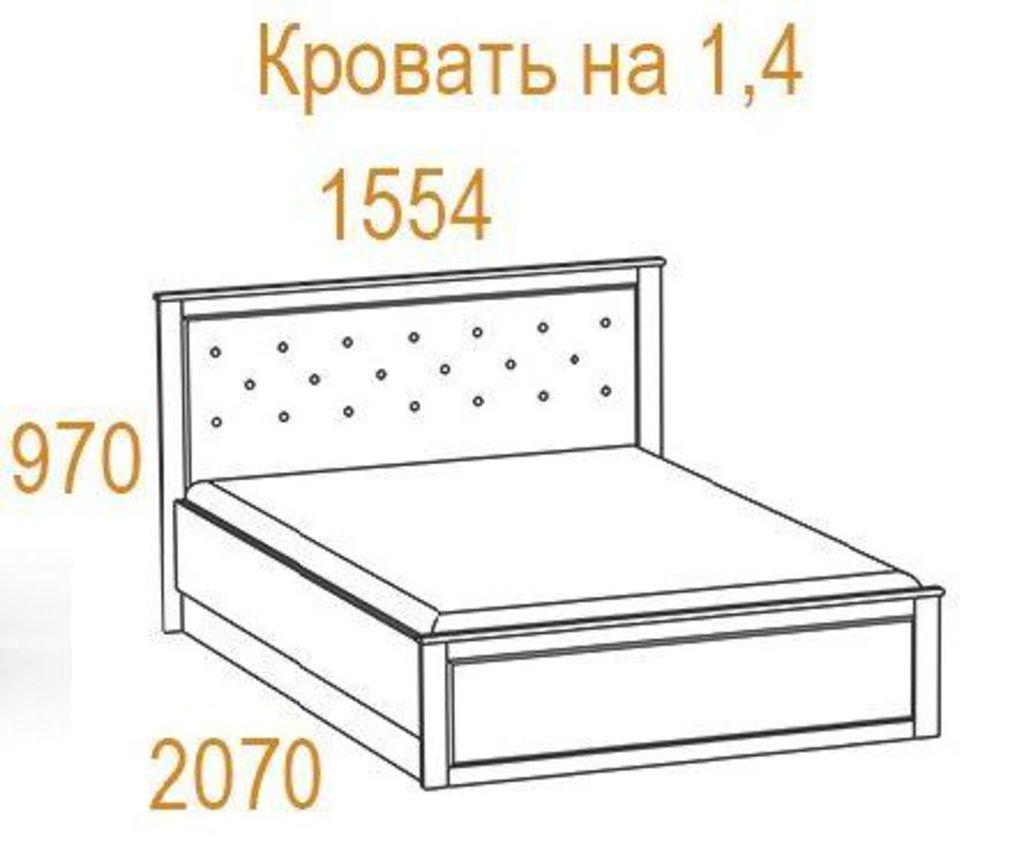 Кровати: Кровать Инфинити (1400, мех. подъема) в Стильная мебель