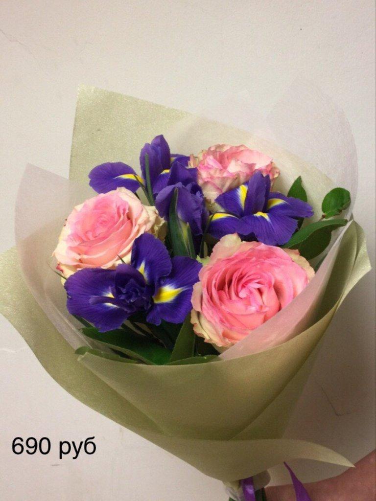 Букеты: Букет с ирисами в Николь, магазины цветов