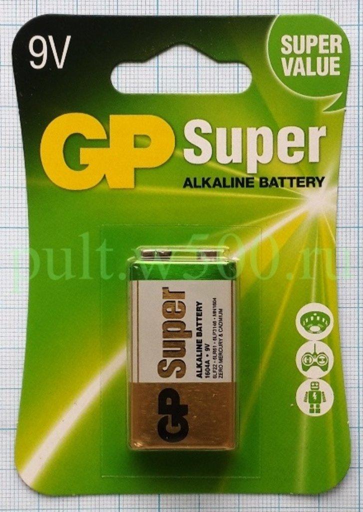 Батарейки.: Батарея 6LF22 ( 6LR61 ) 1604A GP (1BL) в A-Центр Пульты ДУ