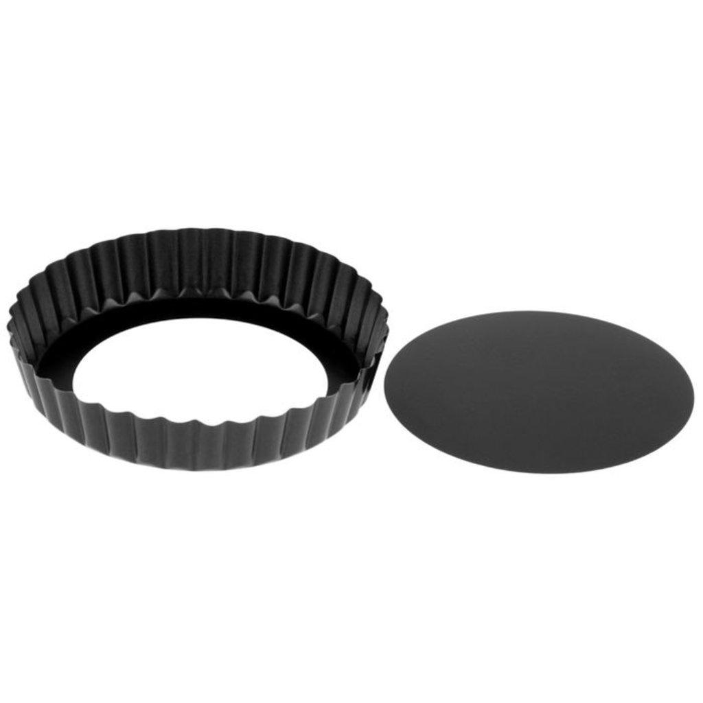 Металлические и разъёмные формы для выпечки: Форма для выпечки Жаклин Рифленый круг со съемным дном 13 см в ТортExpress