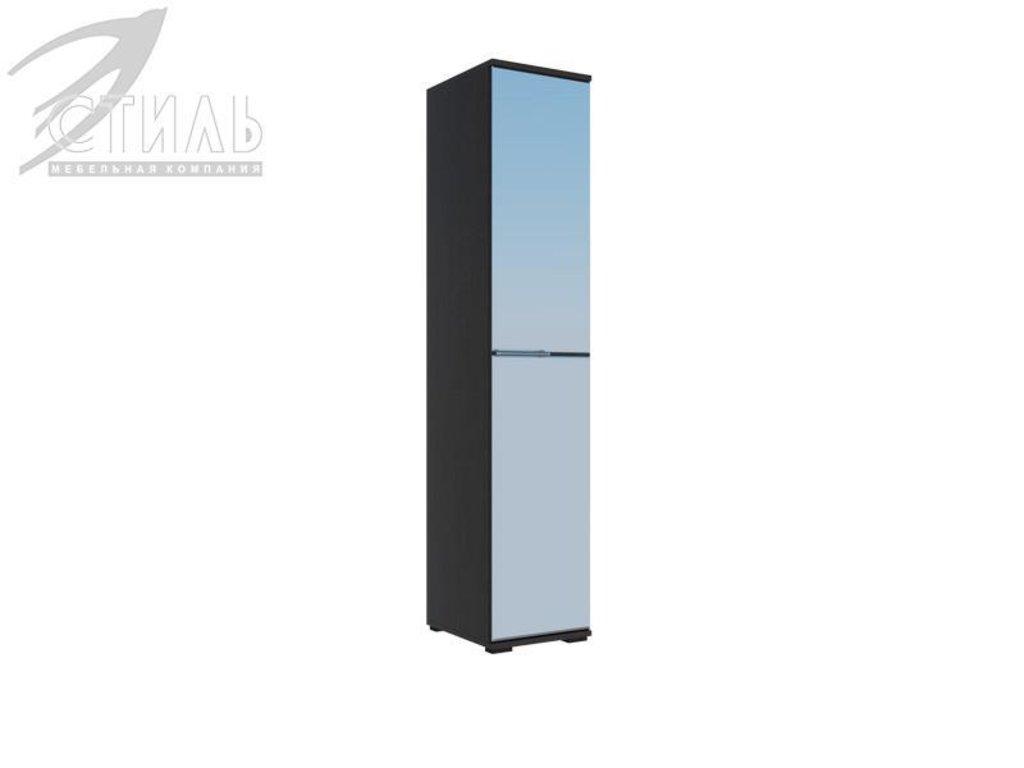 Мебель для спальни Луиза (венге / белый металлик): Пенал Луиза (венге / белый металлик) в Диван Плюс