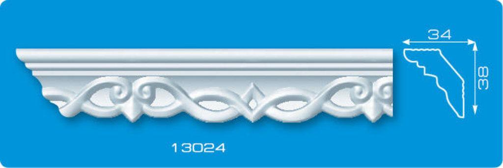 Плинтуса потолочные: Плинтус потолочный ФОРМАТ 13024 инжекционный длина 1,3м, узкий в Мир Потолков