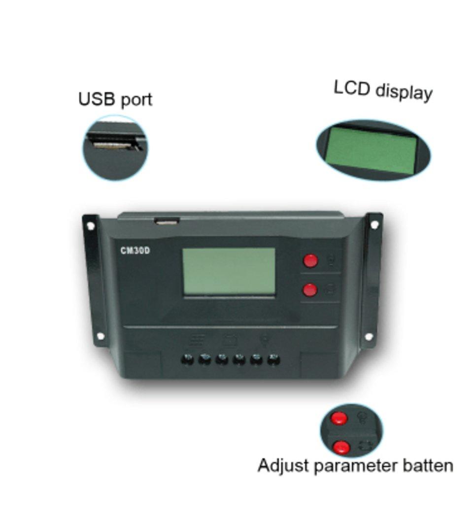 ШИМ контроллеры: Контроллер заряда JUTA CM30D в Горизонт