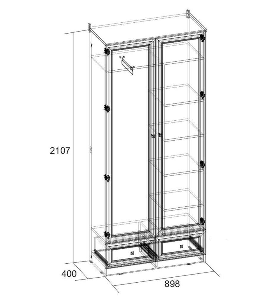 Шкафы для прихожих: Шкаф для одежды и белья PAOLA 72 (Стандарт) в Стильная мебель