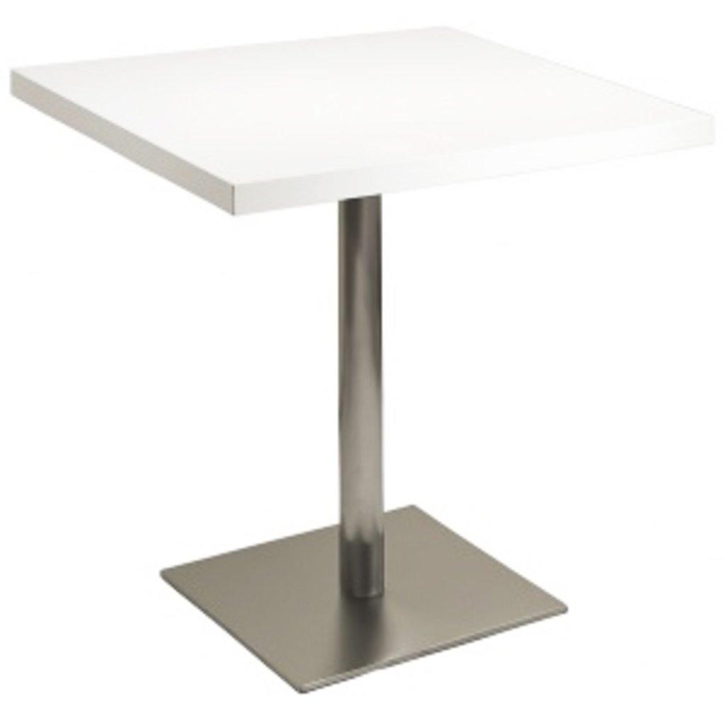 Столы для ресторана, бара, кафе, столовых.: Стол квадрат 800х800, подстолья 1074 ЕМ нержавейка (матовое) в АРТ-МЕБЕЛЬ НН