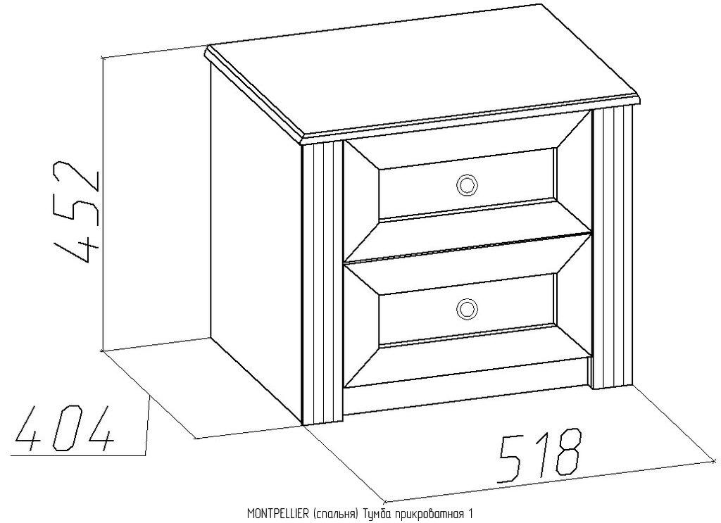 Прикроватные тумбочки: Тумба прикроватная Montpellier 1 в Стильная мебель