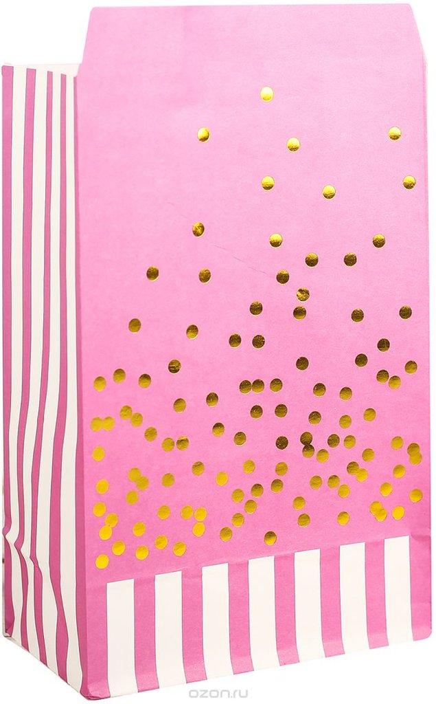 Упаковка: Пакет подарочный, цвет: розовый, 20 х 13 х 75 см. в ТортExpress