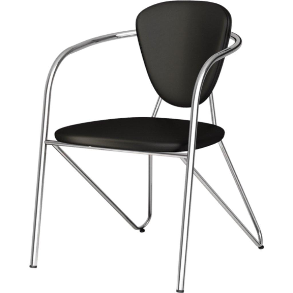 Офисные стулья: Стул Э-1 (хром) в АРТ-МЕБЕЛЬ НН