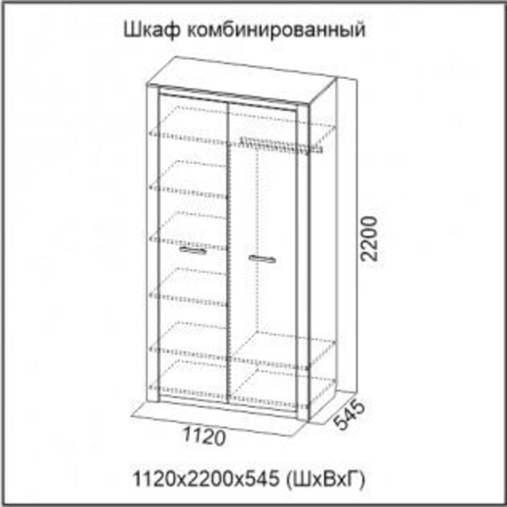 Мебель для спальни Гамма-20: Шкаф комбинированный Гамма-20 в Диван Плюс