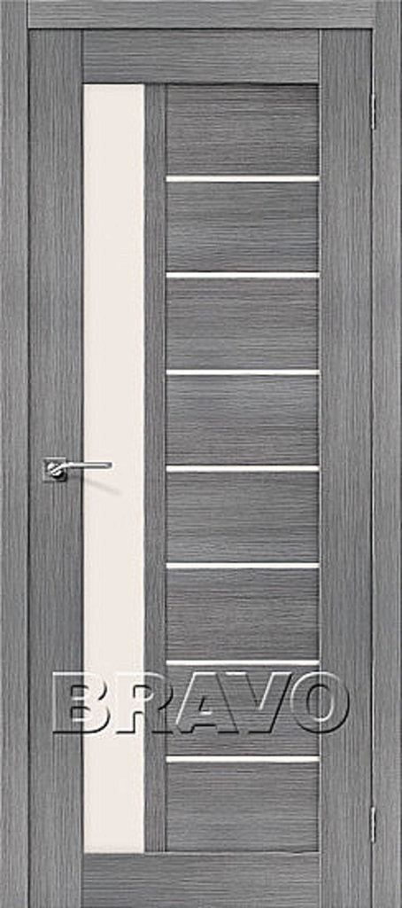 Двери экошпон BRAVO: Порта-27 Grey Veralinga в STEKLOMASTER