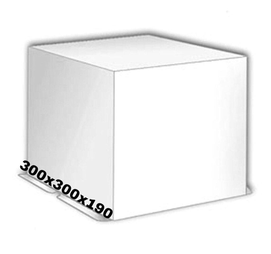 Коробки для тортов: Коробка тортовая белая 300*300*190мм в ТортExpress