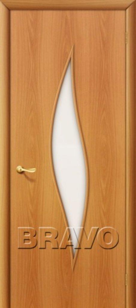 Двери ламинированные BRAVO: 12С Л-12 (МиланОрех в STEKLOMASTER