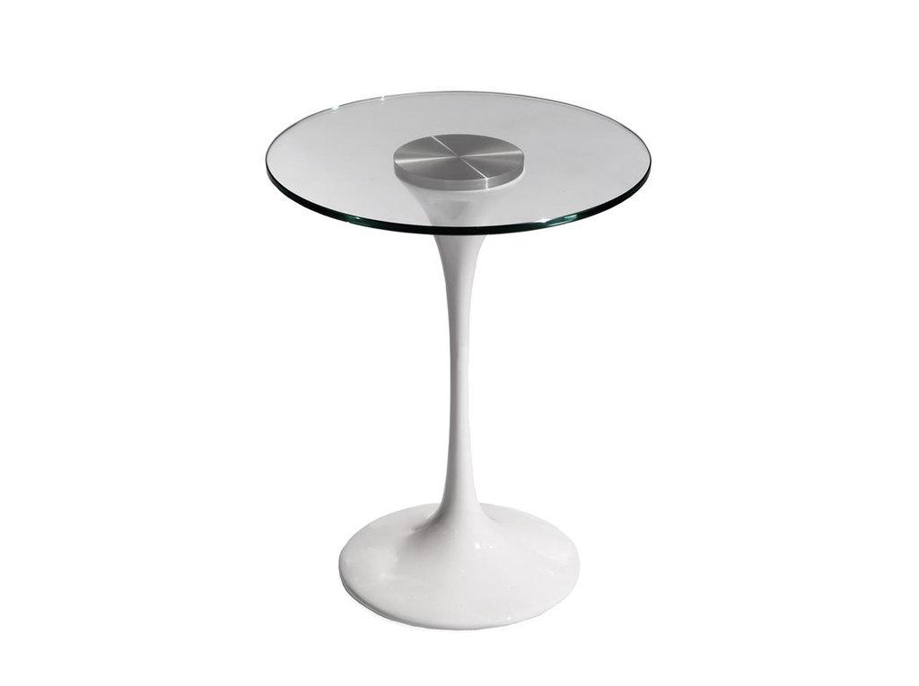 Журнальные и кофейные столики: Стол кофейный Априори T 42 см стекло прозрачное 13т в Актуальный дизайн